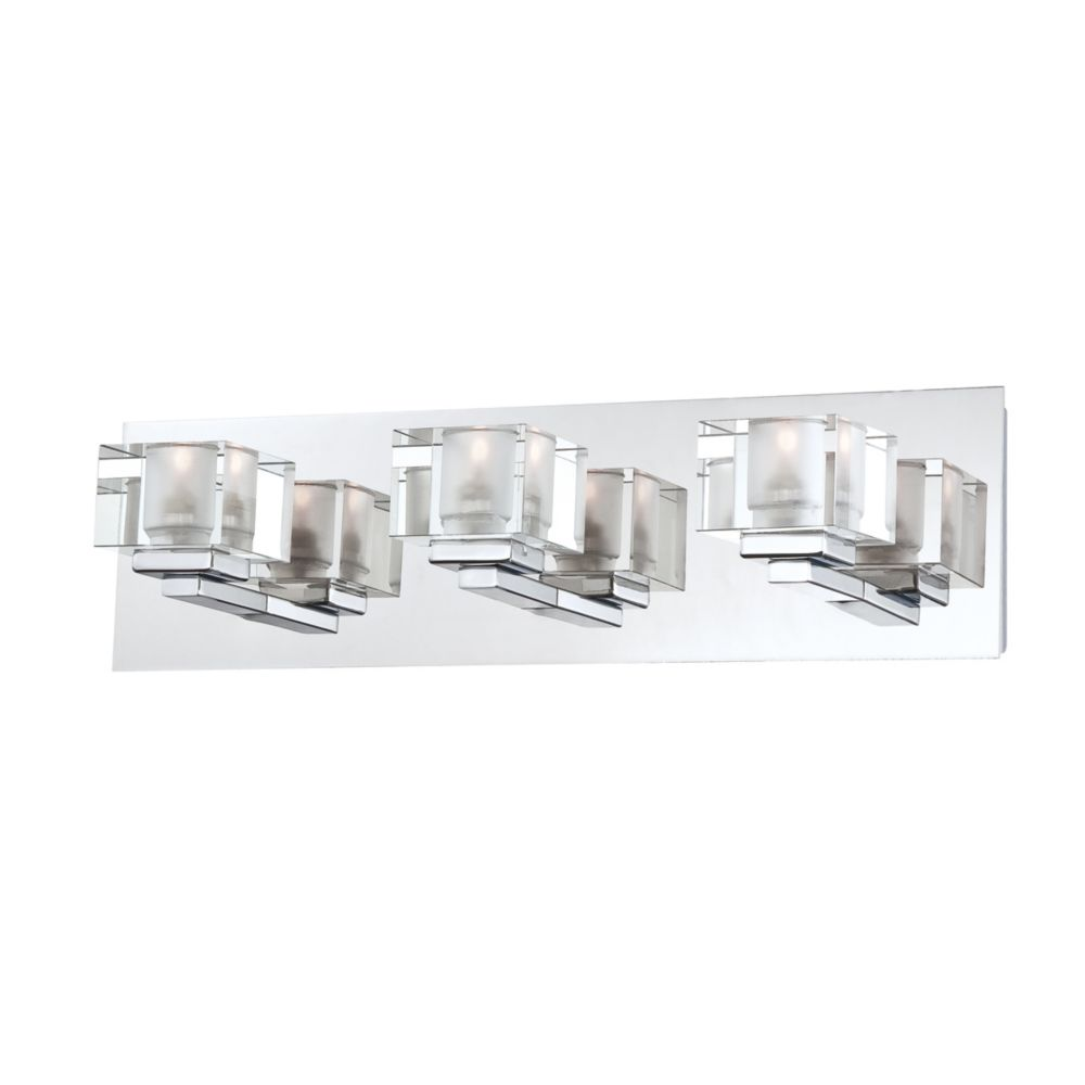 Prism Collection 3 Light Chrome Bathbar