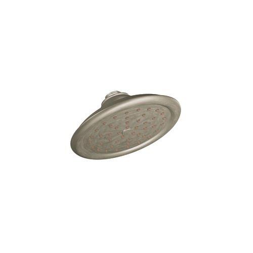 ExactTemp Single-Function 7-inch Rainshower Showerhead in Brushed Nickel