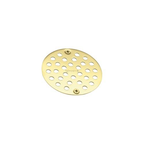 Tub and Shower Drain Cover in Polished Brass