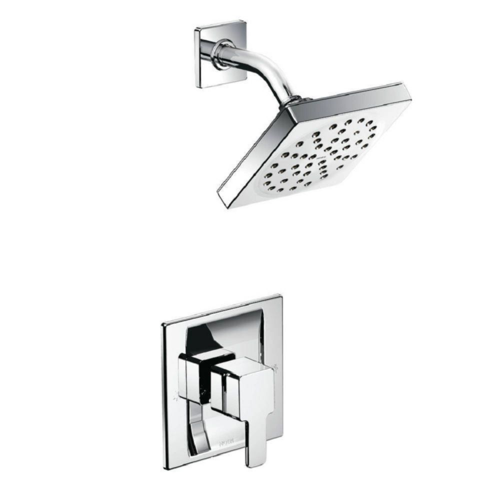 Trousse de garniture de douche 90 Degree (garniture seulement) - fini Chrome