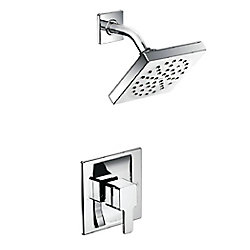 90-Degree 1-Handle 1-Spray Tub and Shower Faucet Trim Kit in Chrome (Valve Sold Separately)