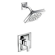 Ensemble de garniture de baignoire et de robinet de douche à 1 poignée à 90 degrés en chrome (valve vendue séparément)