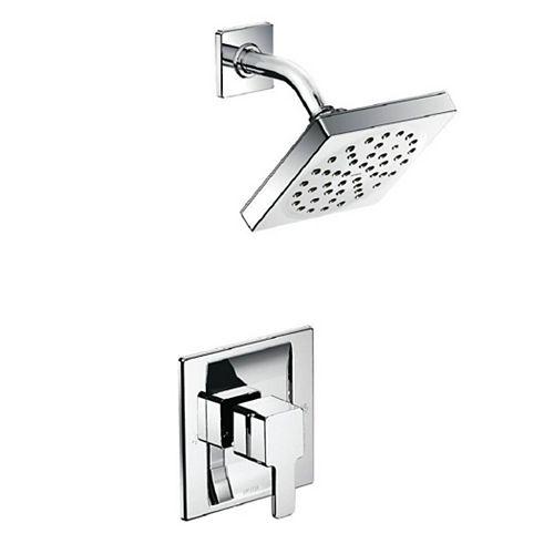MOEN 90 Degree Posi-Temp Single-Handle 1-Spray Shower Faucet Trim Kit in Chrome (Valve Not Included)