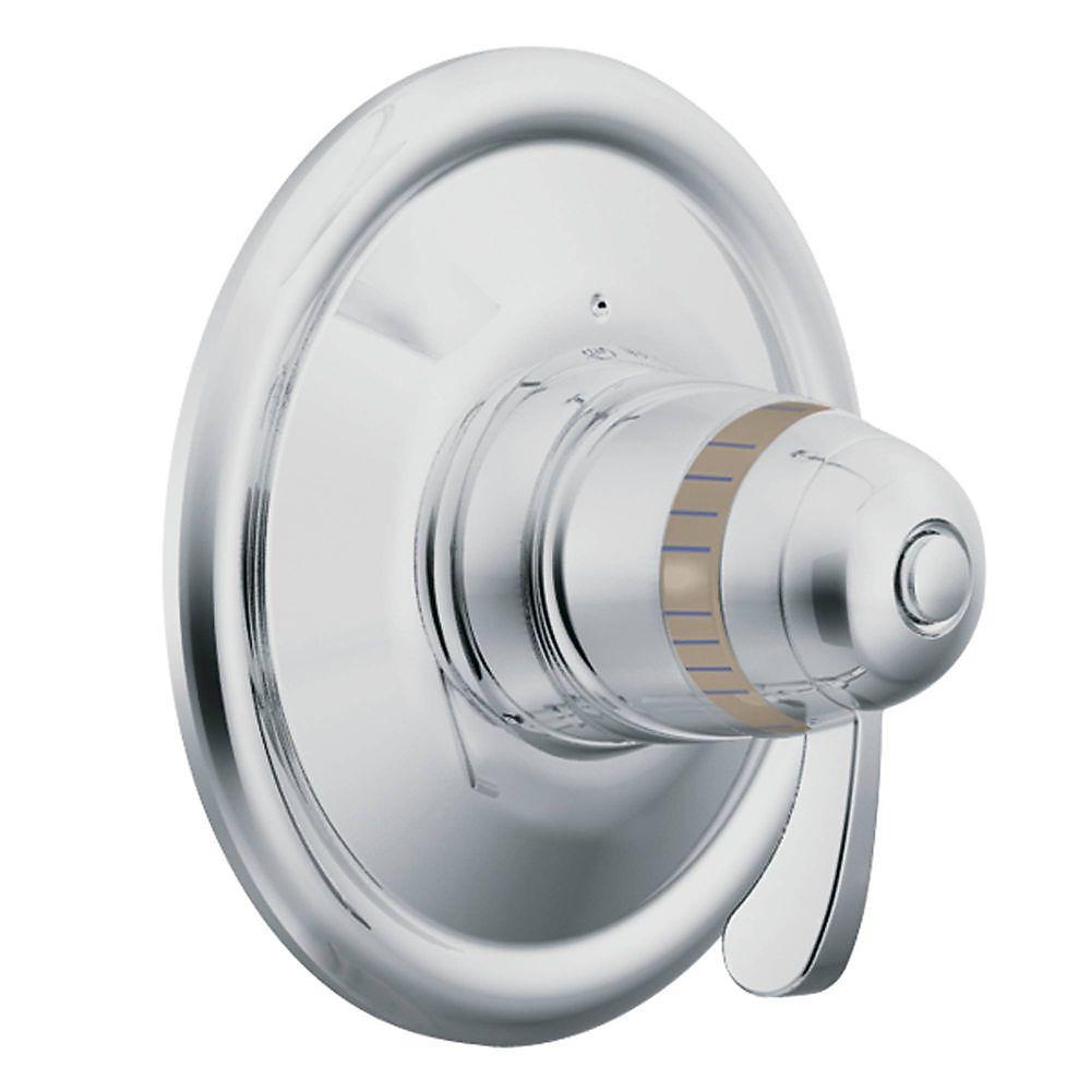 ExactTemp Kit de garniture de soupape d'équilibrage de pression à 1 poignée en chrome (soupape vendue séparément)