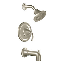 Icon 1-Spray Tub Shower Faucet in Brushed Nickel (Valve Sold Separately)