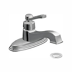 Rothbury Single Hole 1-Handle Low Arc Bathroom Faucet in Chrome with Lever Handle