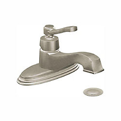 Rothbury Single Hole 1-Handle Low Arc Bathroom Faucet in Brushed Nickel with Lever Handle