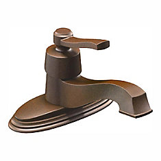 Robinet de salle de bain à monocommande à petite arche fini bronze huilé
