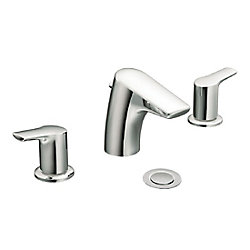 MOEN Method Widespread (8-inch) 2-Handle Low Arc Bathroom Faucet in Chrome with Lever Handles