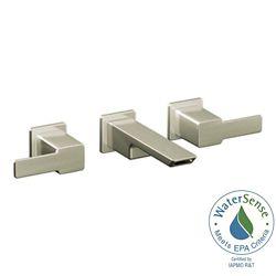 MOEN Widespread (8-inch) 2-Handle Bathroom Faucet in Brushed Nickel with Lever Handles