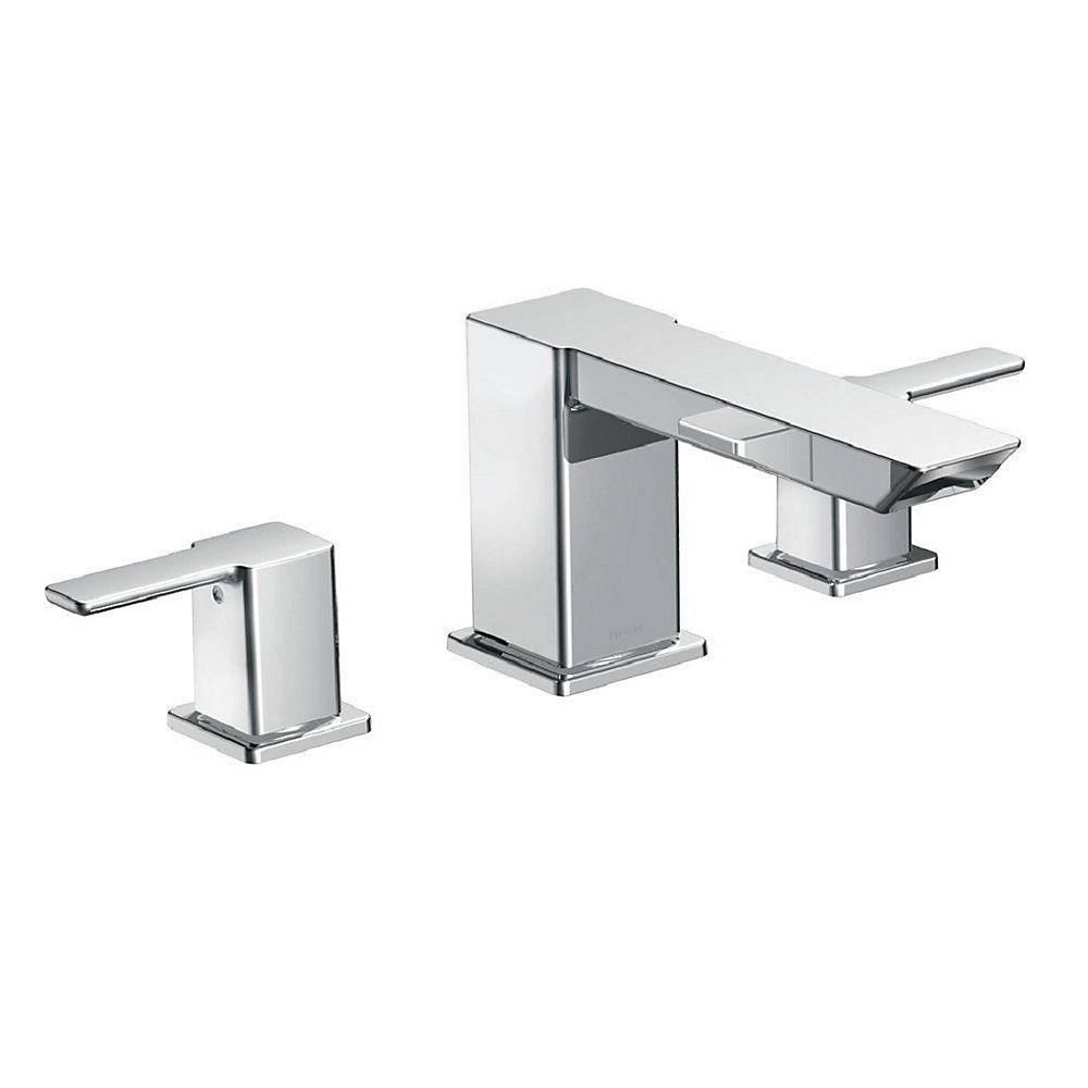 90 Degree 2-Handle High Arc Roman Bath Faucet in Chrome (Valve Sold Separately)
