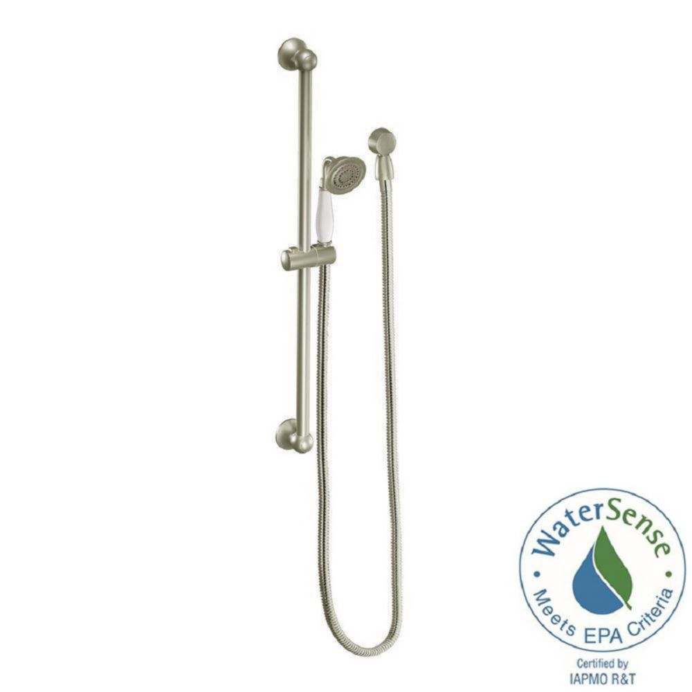 Weymouth Eco-performance Hand Shower with Slide Bar in Brushed Nickel