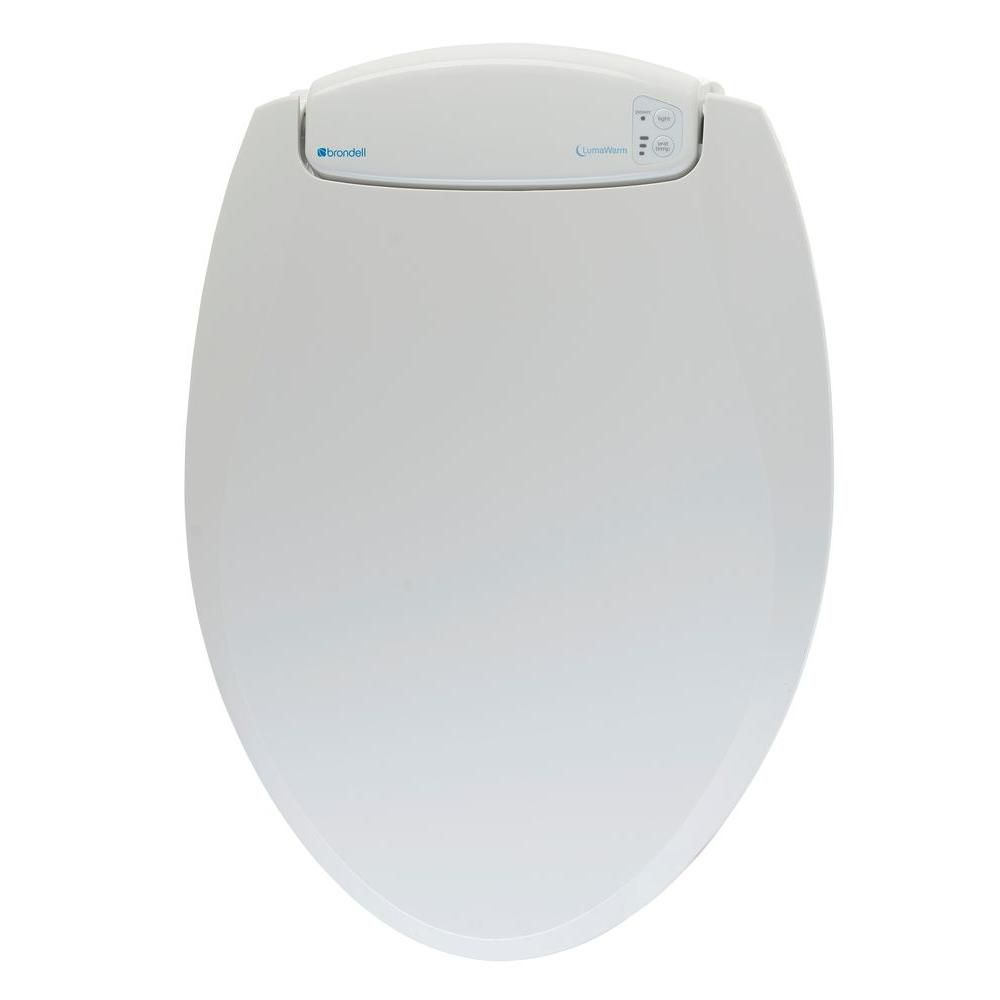 LumaWarm Elongated Heated nightlight Toilet Seat in Biscuit