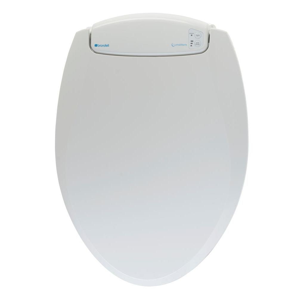 LumaWarm Round Heated nightlight Toilet Seat in Biscuit