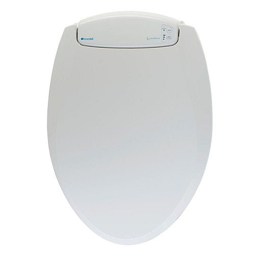 Brondell LumaWarm Round Heated nightlight Toilet Seat in Biscuit