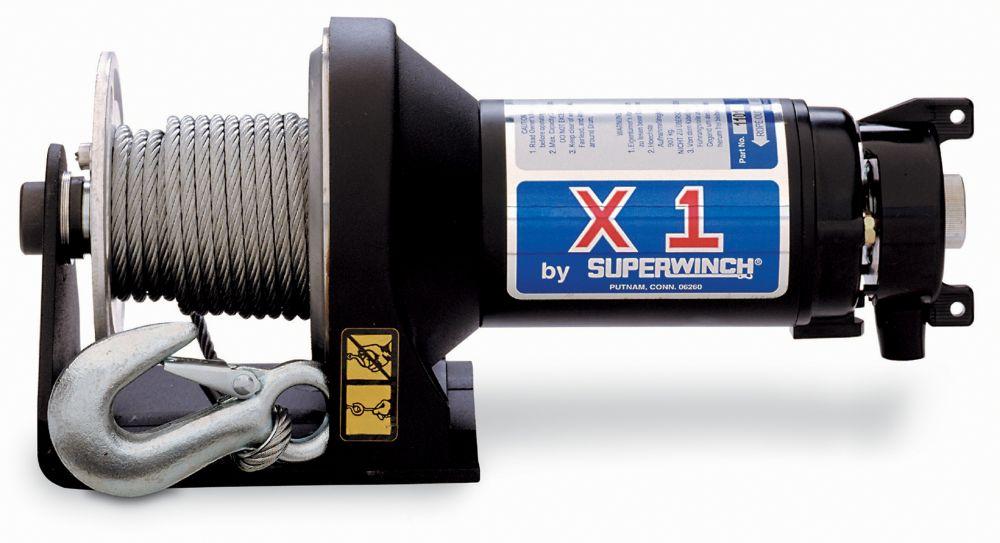 X1 Trailer/Utility Winch - 2,000 lbs/12V