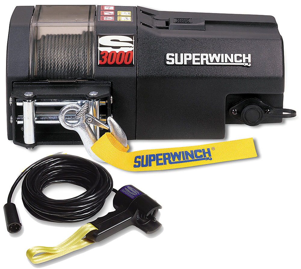 S3000 Trailer Winch - 3,000 lbs/12V