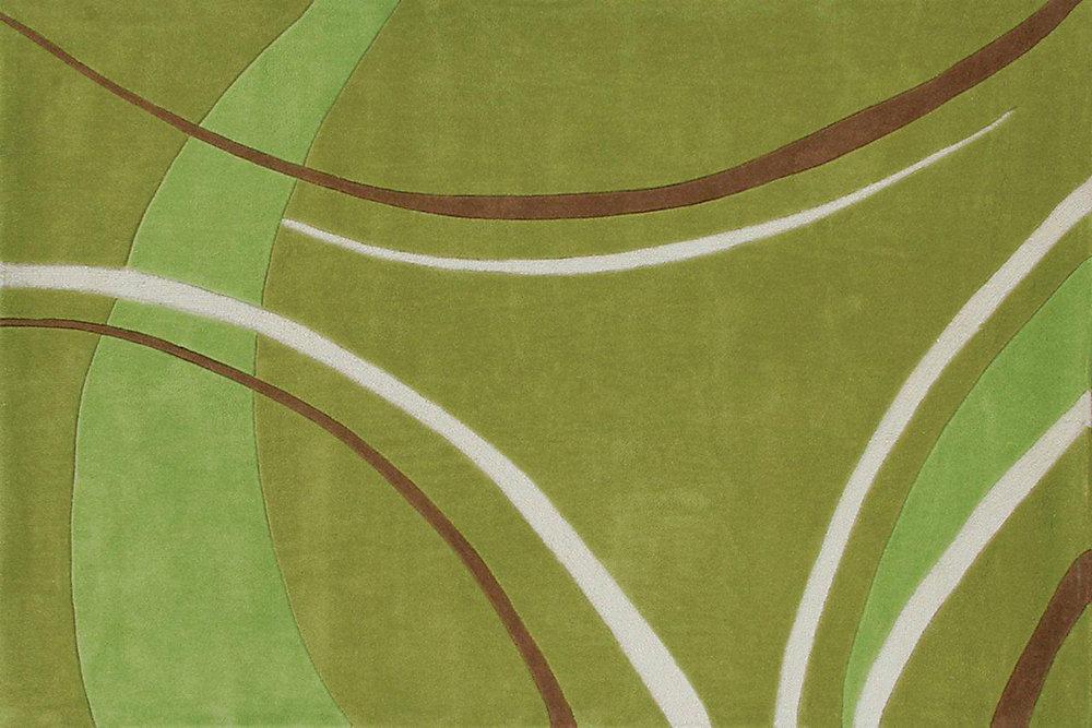 Festival Green 8 ft. x 10 ft. Rectangular Area Rug