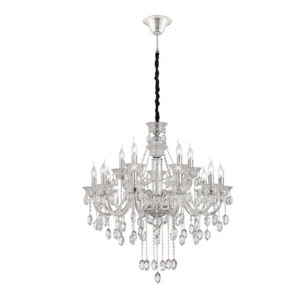 Venetian Collection 15 Light Clear Chandelier