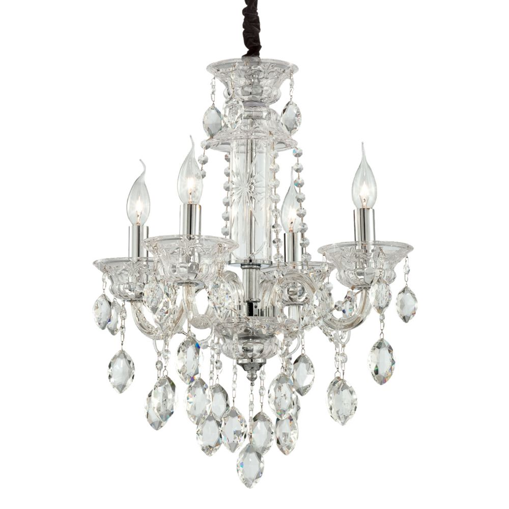 Venetian Collection 4 Light Clear Chandelier