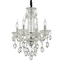 Eurofase Venetian Collection 4 Light Clear Chandelier