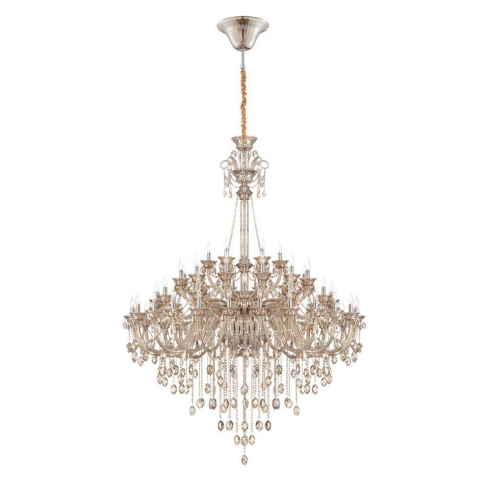 Venetian Collection 54 Light Cognac Brandy Chandelier