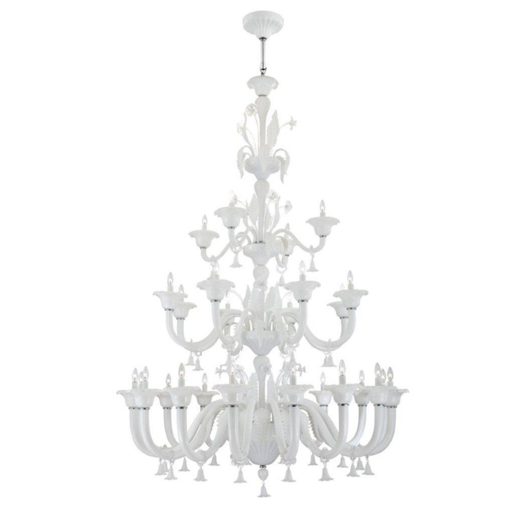 Veronica Collection 28 Light Milky White/clear Chandelier