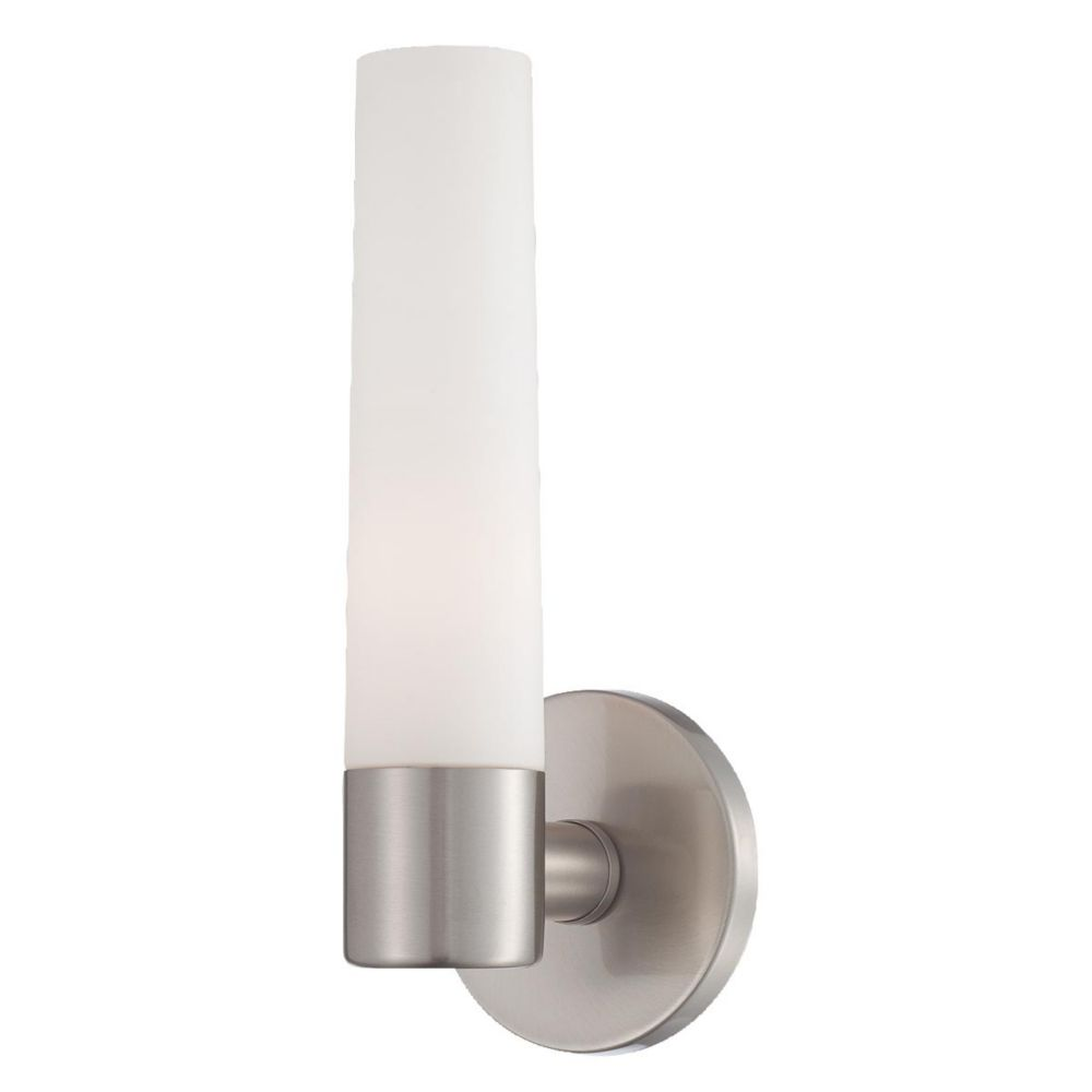 Vesper Collection 1 Light Brushed Nickel Wall Sconce