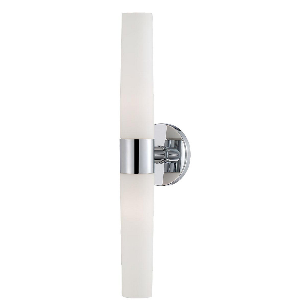 Vesper Collection 2-Light Wall Sconce in Chrome