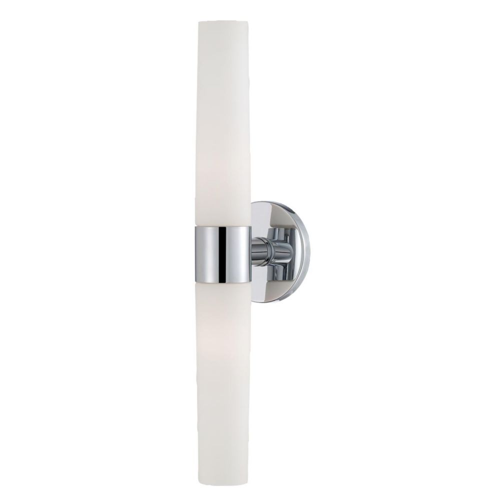 Vesper Collection 2 Light Chrome Wall Sconce