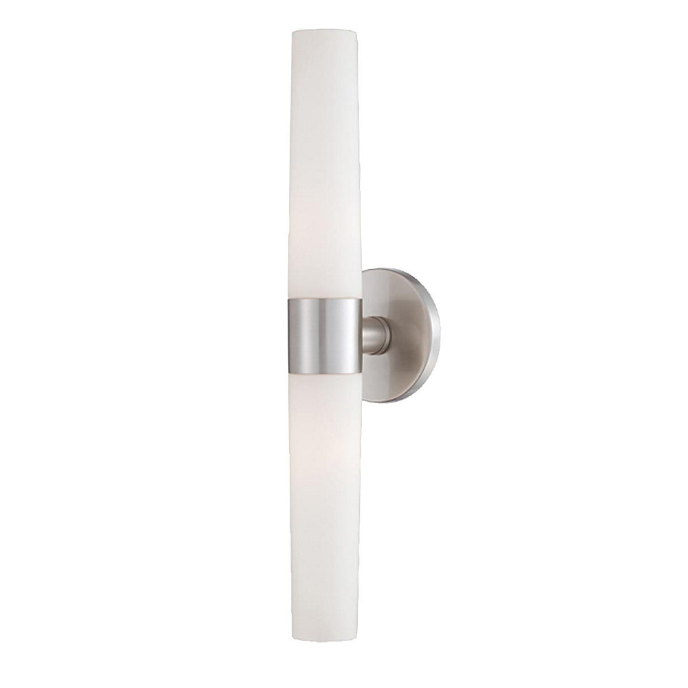 Vesper Collection 2 Light Brushed Nickel Wall Sconce