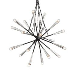 Eurofase Zazu Collection 20 Light Chrome & Black Pendant