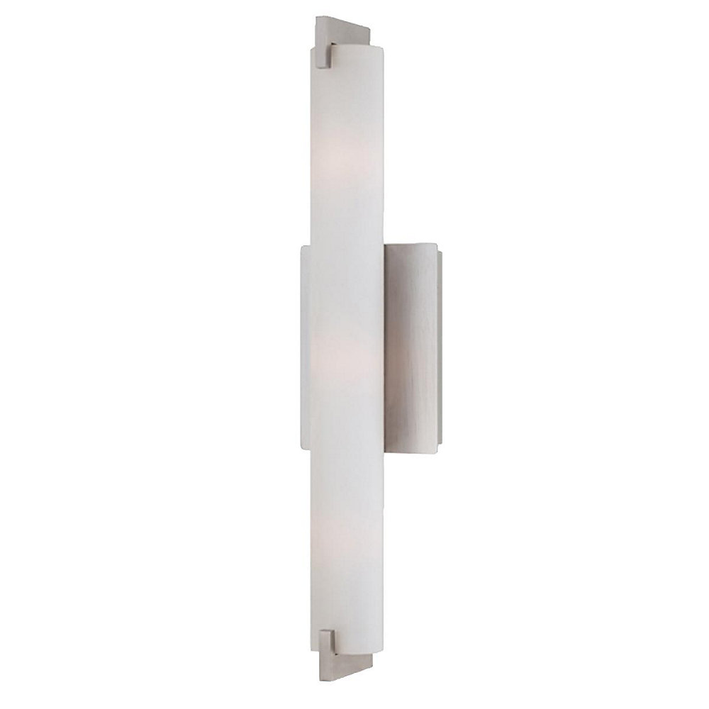 Zuma Collection 3 Light Brushed Nickel Wall Sconce