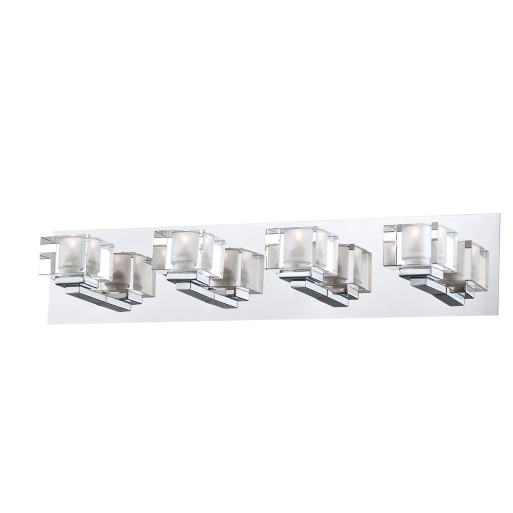 Prism Collection 4 Light Chrome Bathbar