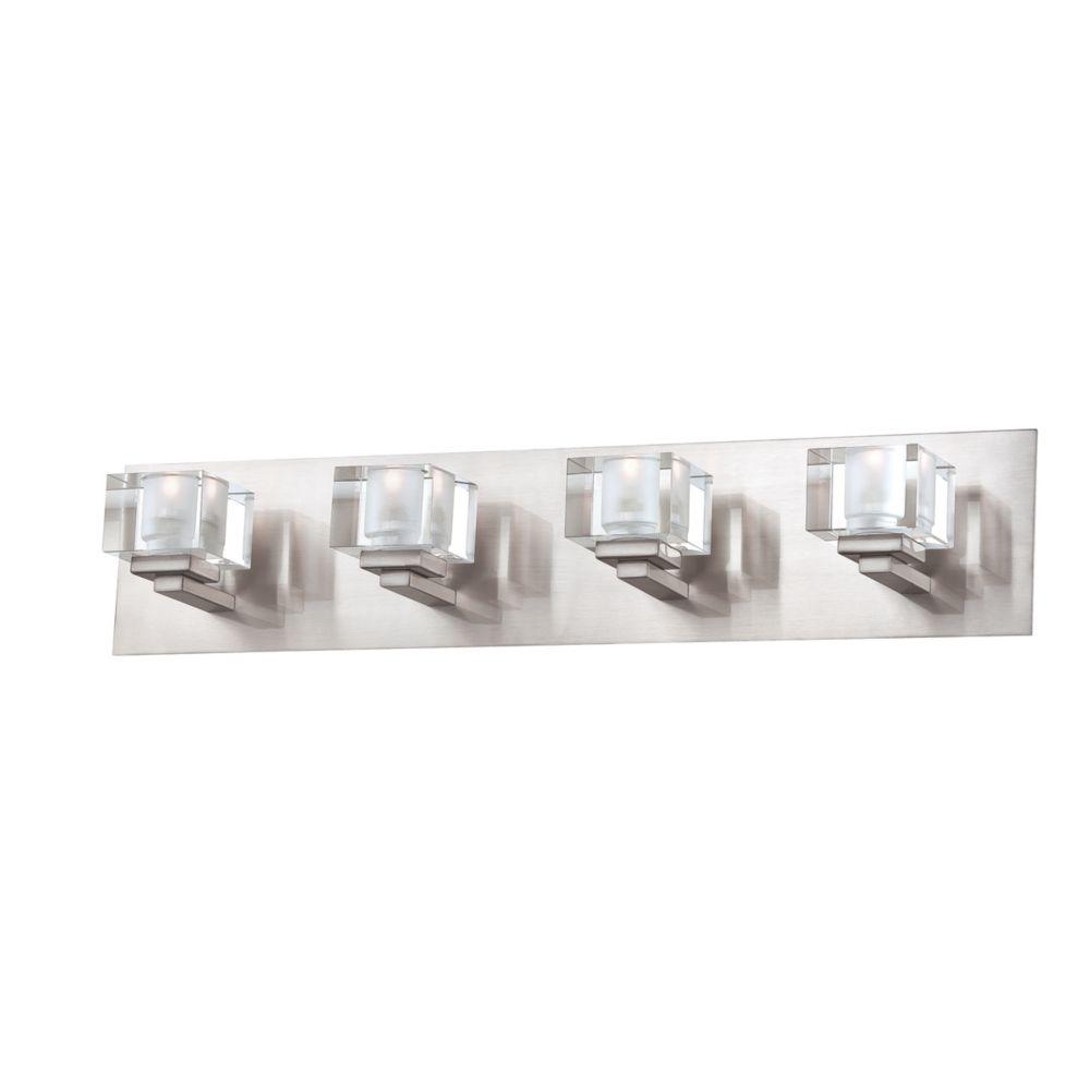 Prism Collection 4 Light Satin Nickel Bathbar