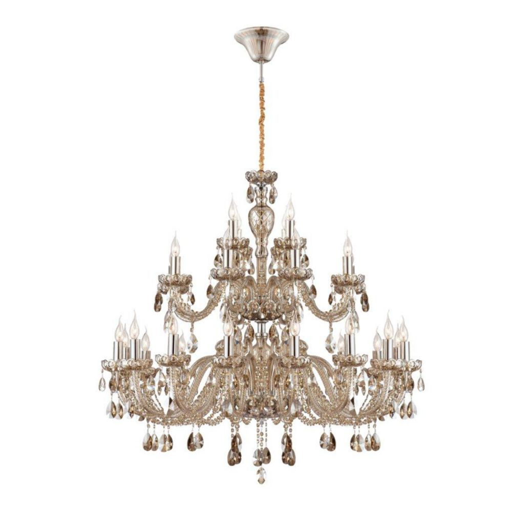 Providence Collection 28 Light Cognac Brandy Chandelier
