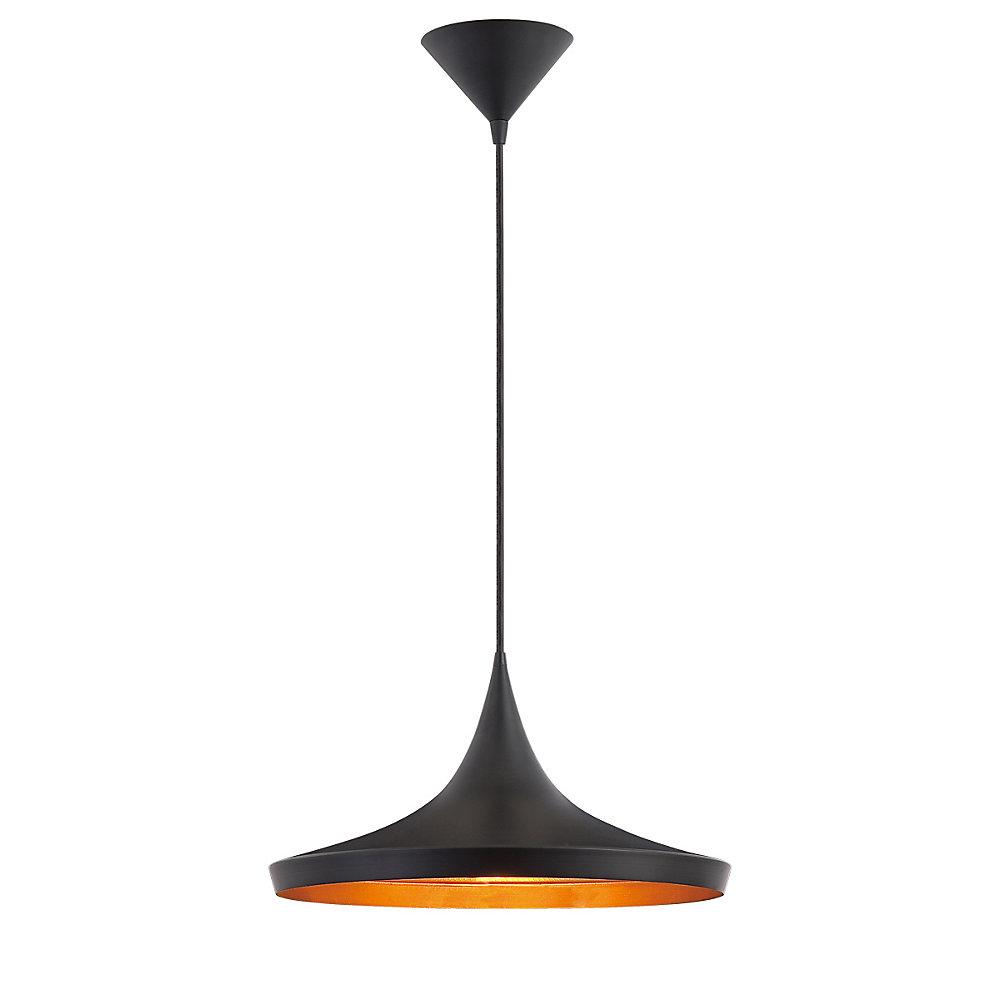 Ramos Collection 1-Light Pendant Light Fixture in Black