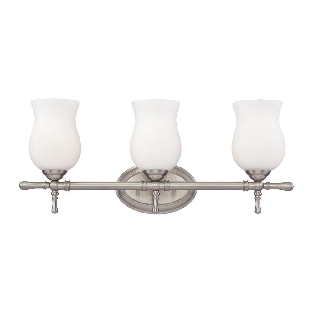 Regency Collection 3 Light Satin Nickel Bathbar