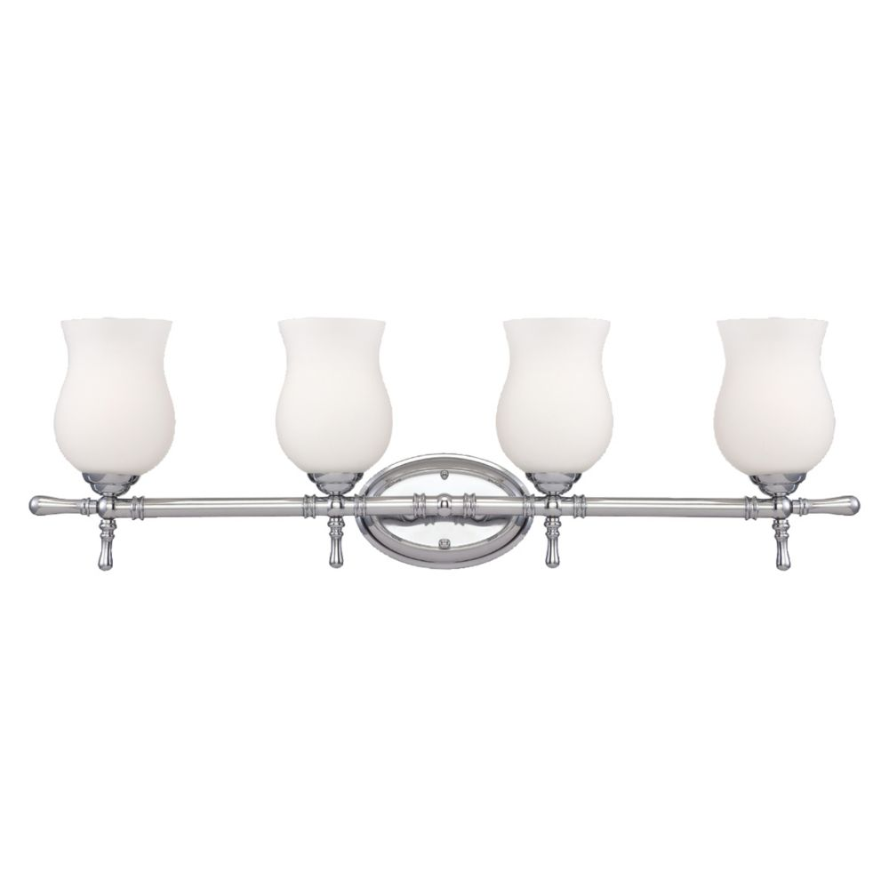 Regency Collection 4 Light Chrome Bathbar 23038-011 in Canada