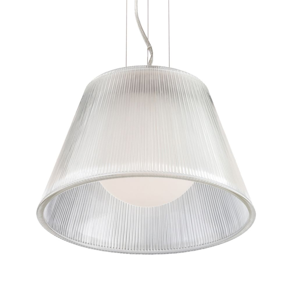 Ribo Collection 1 Light Chrome & Clear Pendant