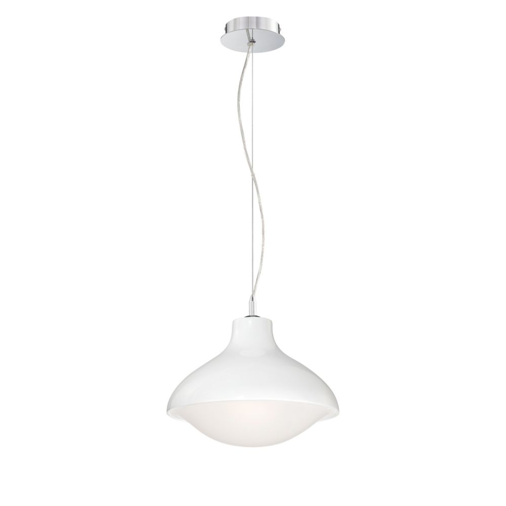 Rojin Collection 1 Light White Pendant
