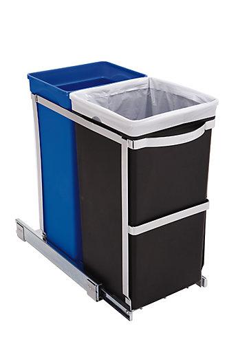 poubelle de recyclage coulissante - Poubelle Tri Selectif 3 Bacs