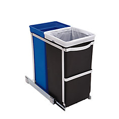 35 L Commercial-Grade Under-Counter Pull-Out Recycling Trash Can
