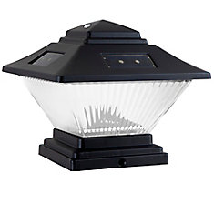 Solar Black Dual Mount Integrated LED Post Cap Deck Lights