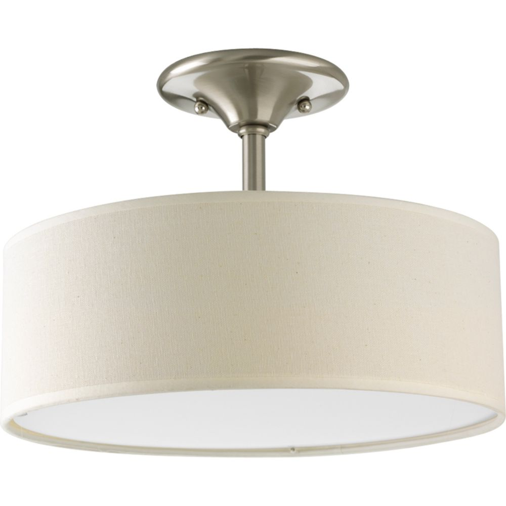 Inspire Collection Brushed Nickel 2-light Semi-flushmount