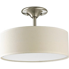 Inspire Collection 2-light Semi-Flushmount in Brushed Nickel