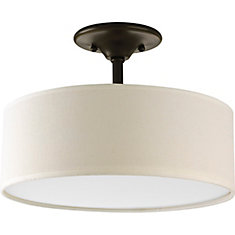 Semi flush mount ceiling lights the home depot canada inspire collection 2 light semi flushmount in antique bronze aloadofball Choice Image