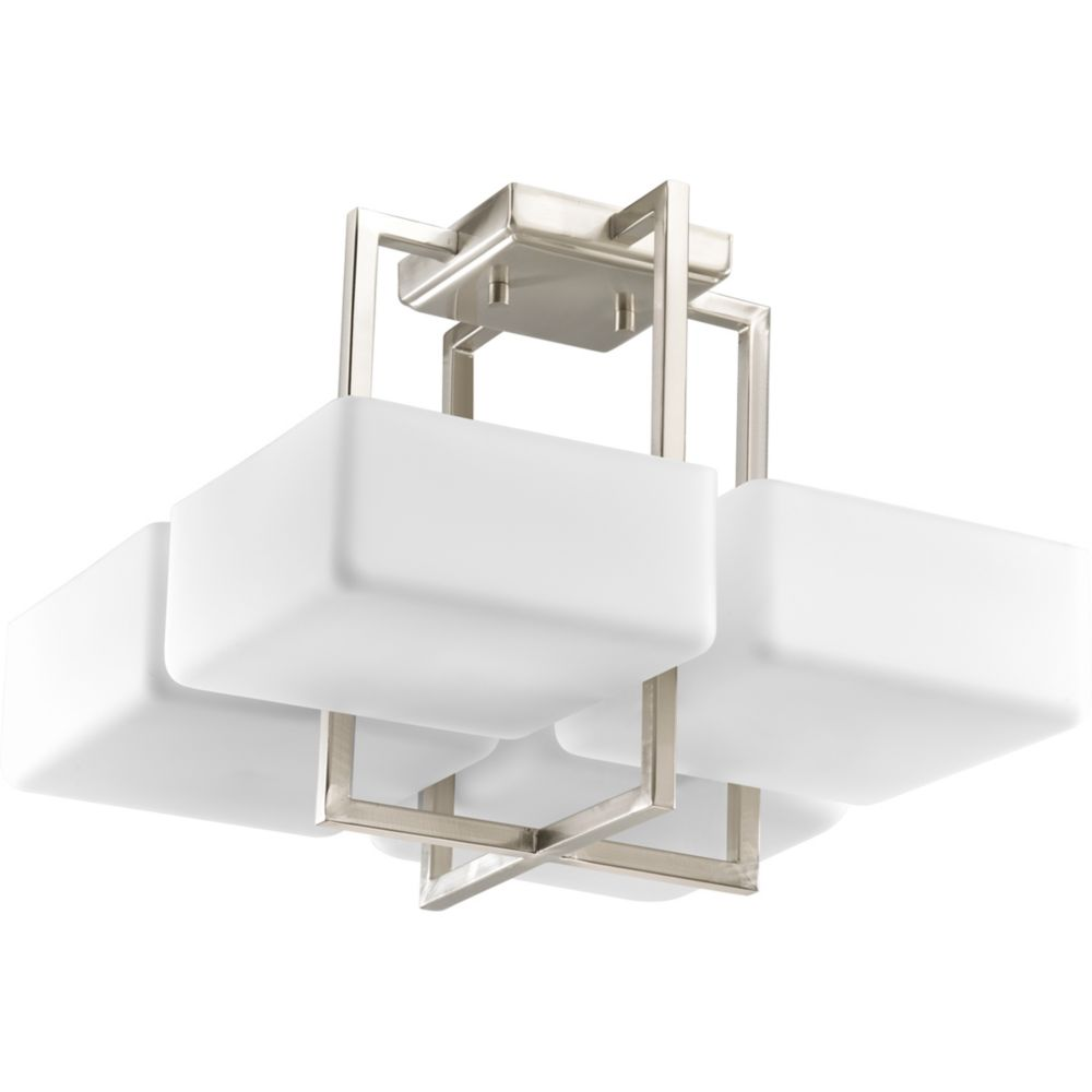 Dibs Collection Brushed Nickel 4-light Semi-flushmount