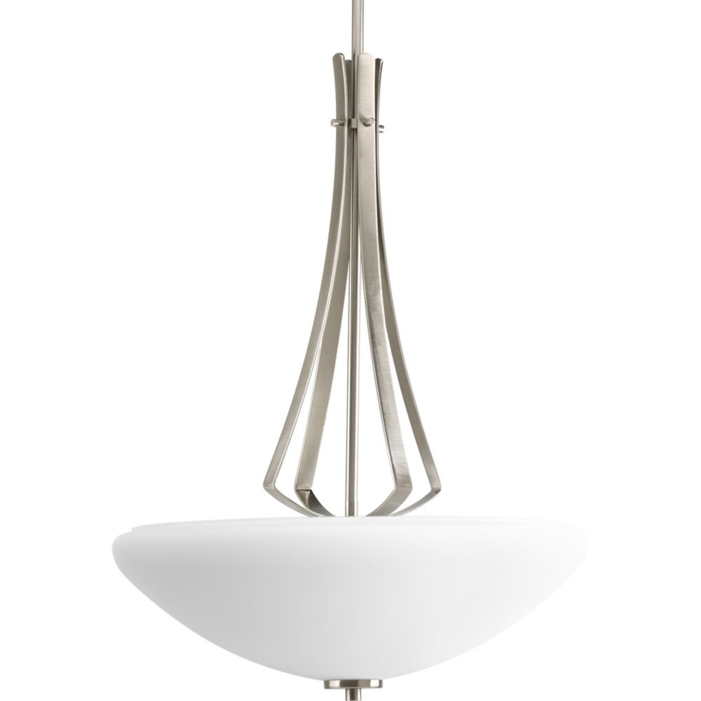 Rave Collection Brushed Nickel 3-light Foyer Pendant