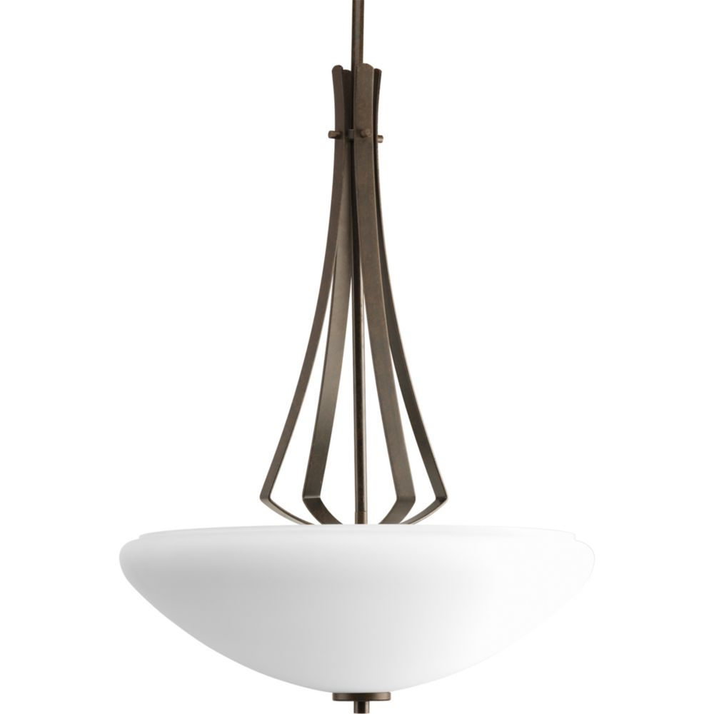 Rave Collection Forged Bronze 3-light Foyer Pendant